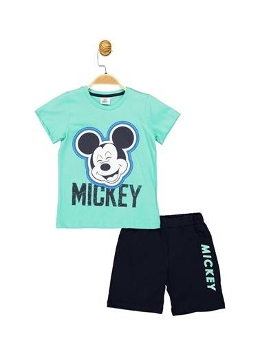 Mickey Mouse  Lisanslı Çocuk Takım 18068 Turkuaz